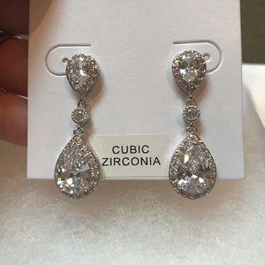 Teardrop formal earrings